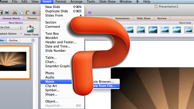 how to add a videointo powerpoint
